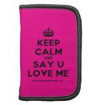 [Crown] keep calm and say u love me  Mini Folio Planners