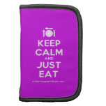 [Cutlery and plate] keep calm and just eat  Mini Folio Planners