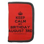 [Crown] keep calm my birthday august 3rd  Mini Folio Planners
