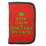 [Cutlery and plate] keep calm and don't eat my face  Mini Folio Planners