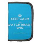 [Crown] keep calm and watch brady win  Mini Folio Planners