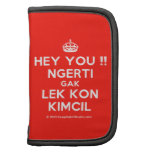 [Crown] hey you !! ngerti gak lek kon kimcil  Mini Folio Planners
