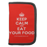 [Crown] keep calm and eat your food  Mini Folio Planners