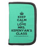 [Crown] keep calm and love mrs. kepenyan's class  Mini Folio Planners