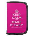 [Crown] keep calm and make it easy  Mini Folio Planners