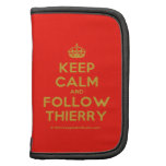 [Crown] keep calm and follow thierry  Mini Folio Planners
