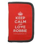 [Crown] keep calm and love robbie  Mini Folio Planners