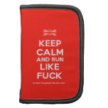 [UK Flag] keep calm and run like fuck  Mini Folio Planners
