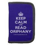 [Crown] keep calm and read oriphany  Mini Folio Planners