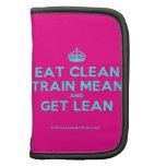 [Crown] eat clean train mean and get lean  Mini Folio Planners