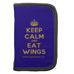 [Crown] keep calm and eat wings  Mini Folio Planners