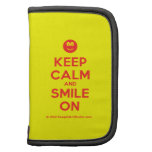 [Smile] keep calm and smile on  Mini Folio Planners