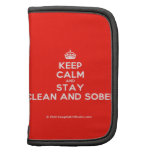 [Crown] keep calm and stay clean and sober  Mini Folio Planners