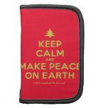 [Xmas tree] keep calm and make peace on earth  Mini Folio Planners