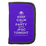 [Skull crossed bones] keep calm and party with jfgc tonight  Mini Folio Planners