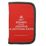 [Crown] jat' bishnoi chadi jodhpur rajasthan-342312  Mini Folio Planners