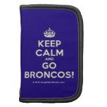 [Crown] keep calm and go broncos!  Mini Folio Planners