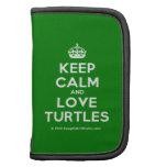 [Crown] keep calm and love turtles  Mini Folio Planners