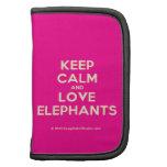 keep calm and love elephants  Mini Folio Planners