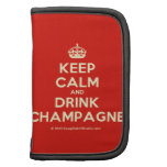 [Crown] keep calm and drink champagne  Mini Folio Planners