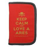 [Skull crossed bones] keep calm and love a aries  Mini Folio Planners