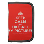 [Crown] keep calm and like all my pictures  Mini Folio Planners