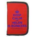 [Crown] keep calm and helen is bonkers  Mini Folio Planners