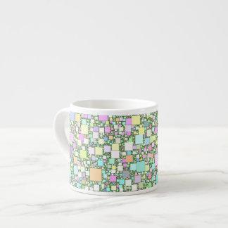 Mini fondo en colores pastel de las cajas taza espresso