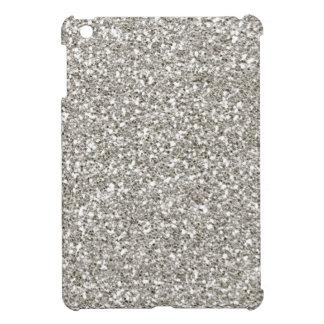 ¡Mini Funda-Navidad del iPad del brillo de plata,