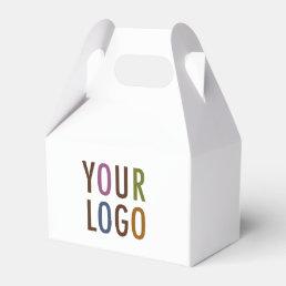 Mini Gable Favor Gift Box with Handle Company Logo