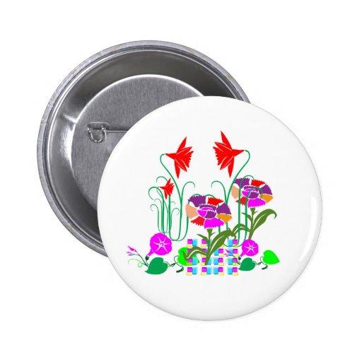 Mini Garden : Flower Arrangement 2 Inch Round Button