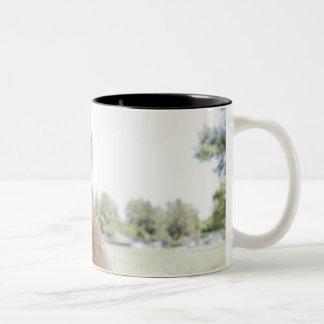 Mini Golden Doodle Two-Tone Coffee Mug