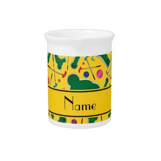 Mini golf amarillo conocido personalizado jarron