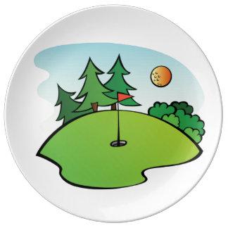Mini Golf Clip Art Dinner Plate