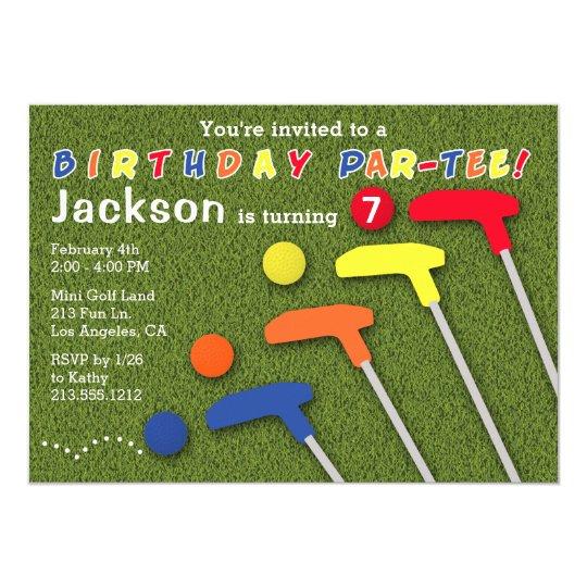 Mini golf par tee putt putt boys birthday invitation zazzle mini golf par tee putt putt boys birthday invitation filmwisefo