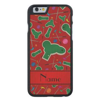Mini golf rojo conocido personalizado funda de iPhone 6 carved® slim de arce