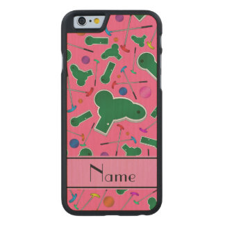 Mini golf rosado conocido personalizado funda de iPhone 6 carved® de arce