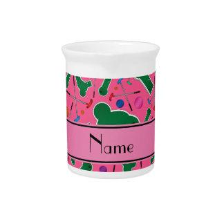 Mini golf rosado conocido personalizado jarra