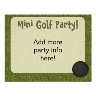 Mini Golf Style Hole In One Invite