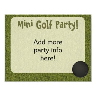 Mini Golf Style Hole In One Invite