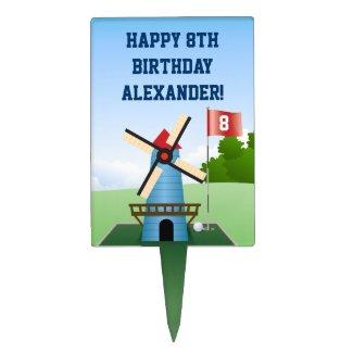 Mini Golf WIndmill Cake Pick