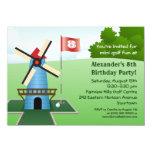 "Mini Golf Windmill Fairway Party Invitation 4.5"" X 6.25"" Invitation Card"
