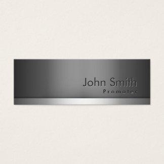 Mini Gray Metal Promoter Business Card