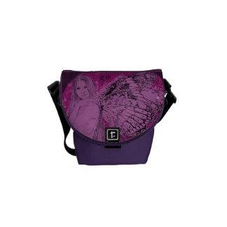 Mini hada de la lila de la bolsa de mensajero H1 Bolsas De Mensajeria