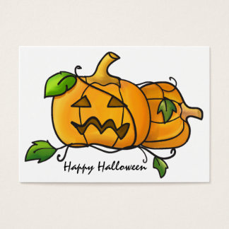 Mini halloween pumpkins Card