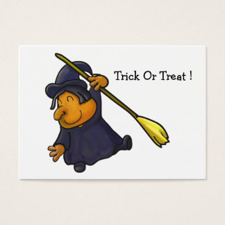 Mini Halloween witch Card