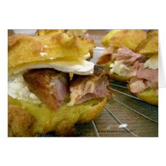 Mini ham & cheese sammies greeting card