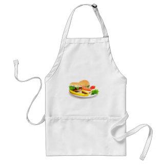 Mini Hamburgers Adult Apron