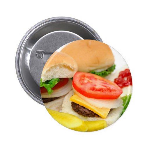 Mini Hamburgers Pinback Button