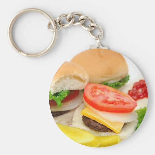Mini Hamburgers Key Chains